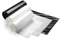 SSS Terra LLD Can Liner, 40x48, .73 Mil., White, 8 rolls, 25 bags per roll