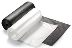 SSS Galaxy HD Can Liner, 40x48, 16 Mic., Natural, 10 rolls, 25 bags per roll