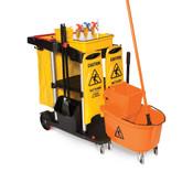 SSS Dock'n Lock Janitor Cart, 2-She