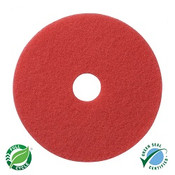 "SSS 20"" Red Spray Buff Floor Pad, 5"