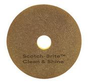 "SSS/3M 20"" Clean & Shine Pad, 5/Cs."