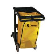 SSS Janitor Cart, Dark Grey w/SSS Y